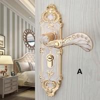Modern simple Fashion Interior lock wooden door lock , europen style amber white bed room kitchen study Mute door locks