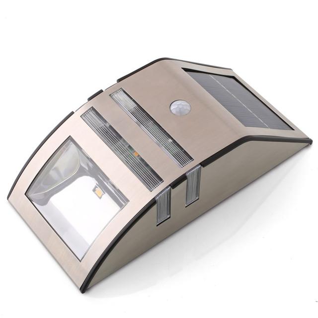 Solar Powered lámpara LED Wireless brillante luces solares de la noche del Sensor de movimiento de la calle del jardín iluminación para pared del Patio