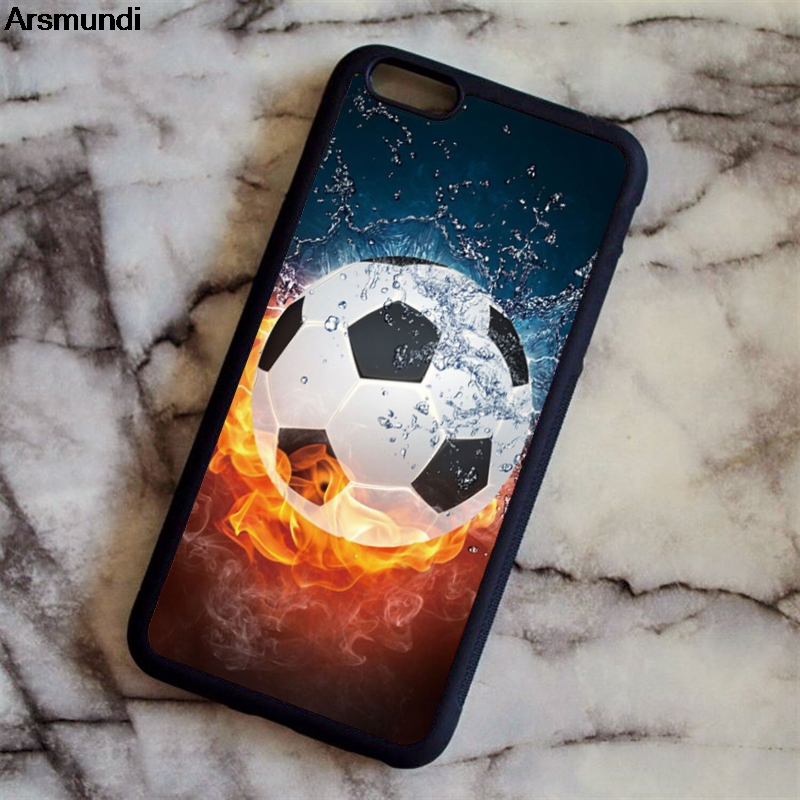 Arsmundi Cool Soccer Football Phone Cases for iPhone 4S 5C 5S 6 6S 7 8 Plus X for Samsung S5 6 7 8 Case Soft TPU Rubber Silicone