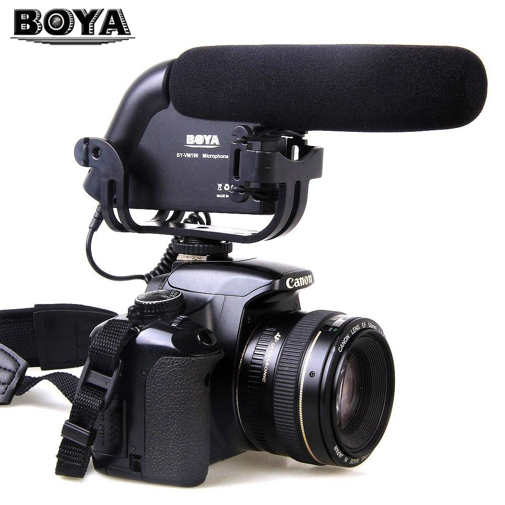 BOYA BY VM190 BY-VM190 Video Condenser Shotgun Microphone for 5D II 6D DSLR Camera Camcorder микрофон flama fl vm190