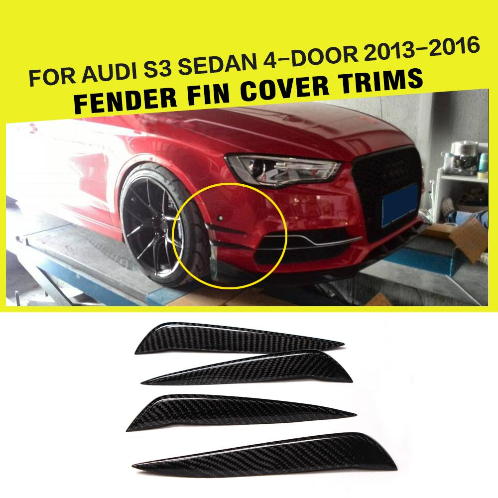 4PCS/SET Carbon Fiber Auto Car Air Intake Trims Air Vent Decoration For Audi S3 Sedan 4-Door 2013-2015 top quality all real carbon fiber car inside air vent outlet lh rh decorative frames trims covers for 2015 2017 new ford mustang