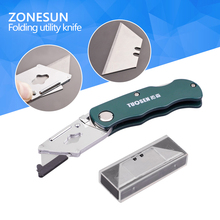 ZONESUN 3PC Folding Utility Knife Set Stainless steel Knife Quick-change Knife