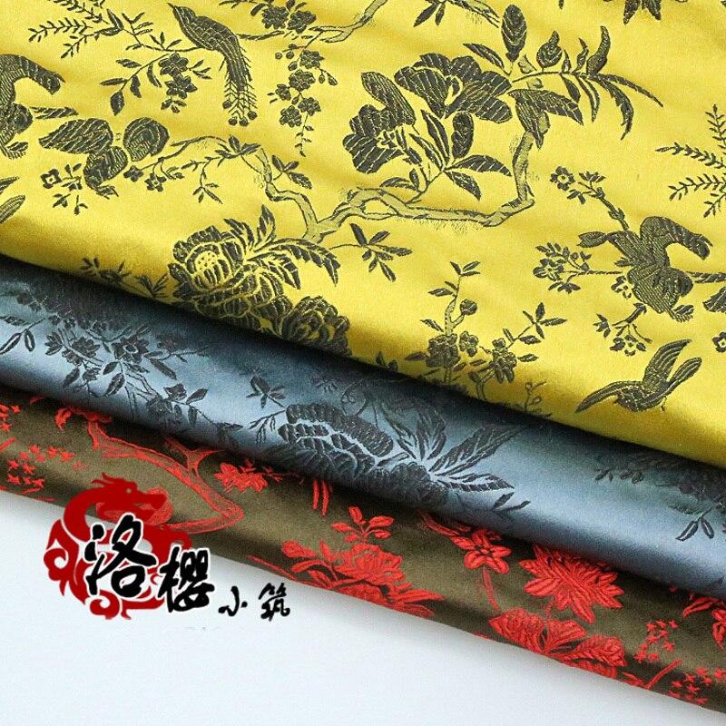 Costume hanfu formal dress baby clothes kimono cos senior cheongsam clothes woven  jacquard brocade fabric series