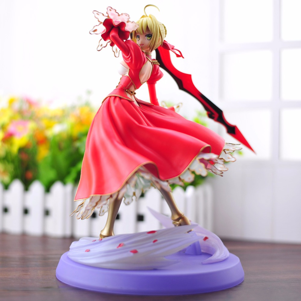 HKXZM Anime 23CM Fate stay Night Fate/EXTRA Saber Lily 1/7 Scale PVC Figure Toys Collectible Model Christmas GiftHKXZM Anime 23CM Fate stay Night Fate/EXTRA Saber Lily 1/7 Scale PVC Figure Toys Collectible Model Christmas Gift