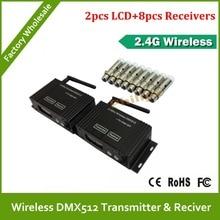 Быстрая Бесплатная Доставка DHL 2.4 г беспроводной DMX 512 приемник передатчик стабильность сигнала LED dmx-контроллер дискотека светодиодные Show DMX
