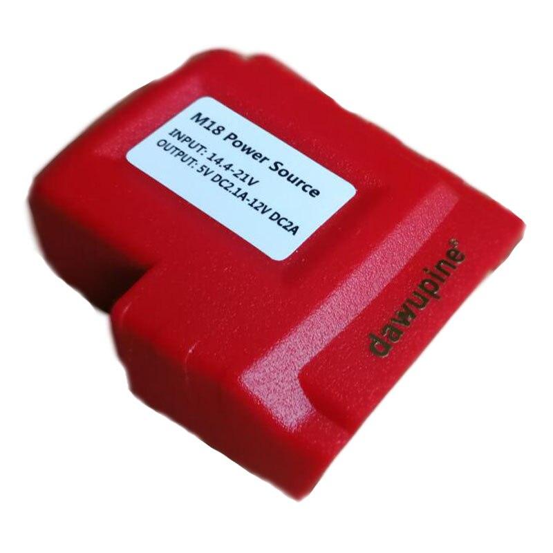 USB Conector De Alimentação para Milwaukee 18 V Bateria M18 1.5Ah 2Ah 3Ah 4.5Ah 5Ah 6Ah 9Ah Dispositivo USB Adaptador De Carga DC 9 V 12 V