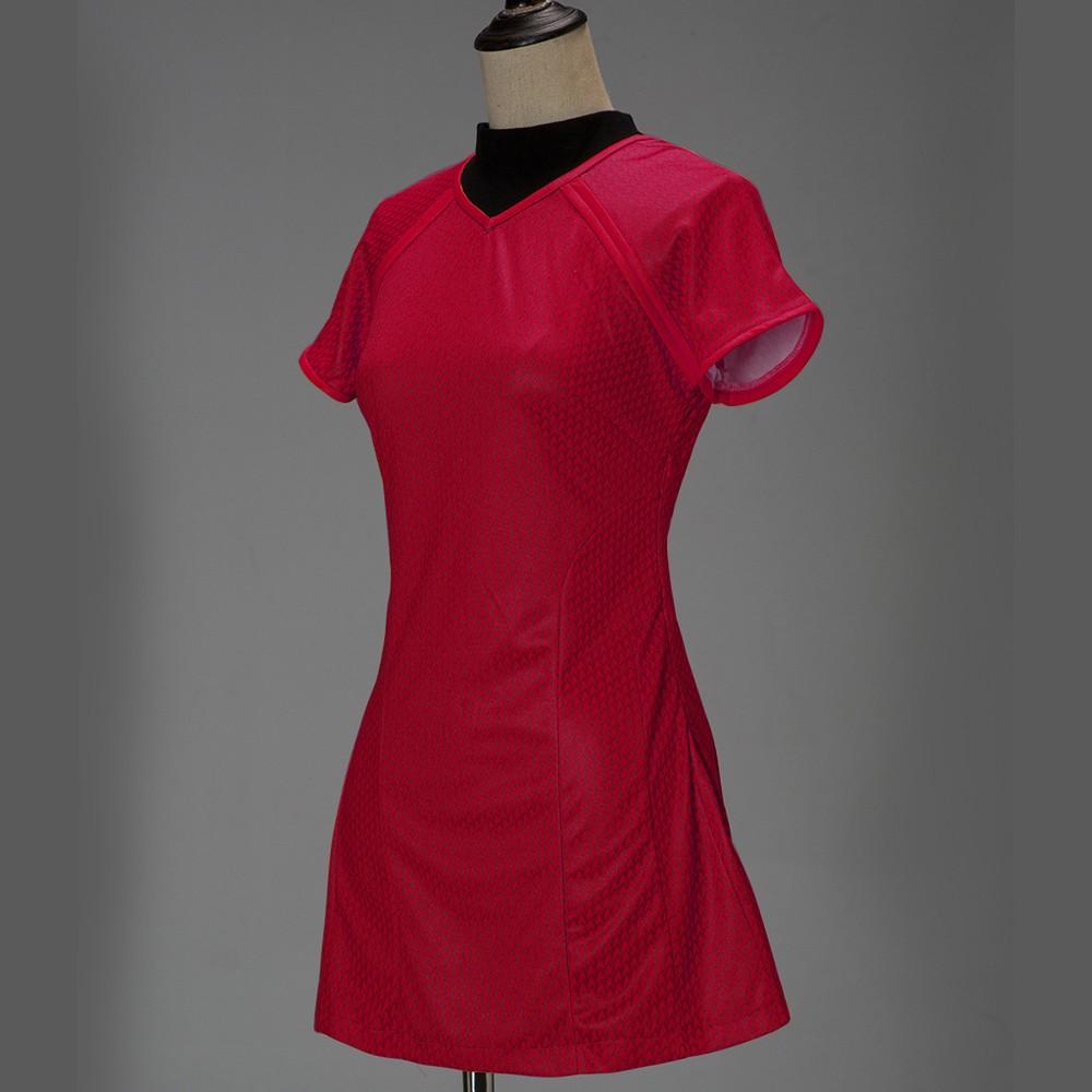 Cosplay Star Trek Into Darkness Star Fleet Uhura Costume Dress Cosplay  Red Halloween Uniform3