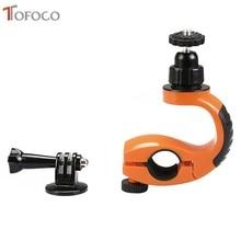 2017 Tofoco 360 학위 회전 Gopro 자전거 자전거 오토바이 핸들 홀더 브래킷 4 3 + 3 2 Sjcam Xiaomi