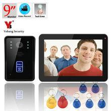 YobangSecurity 9 Inch RFID Video Door Phone Doorbell Intercom Doorchime Rainproof with Video Recording and Photo Taking Function