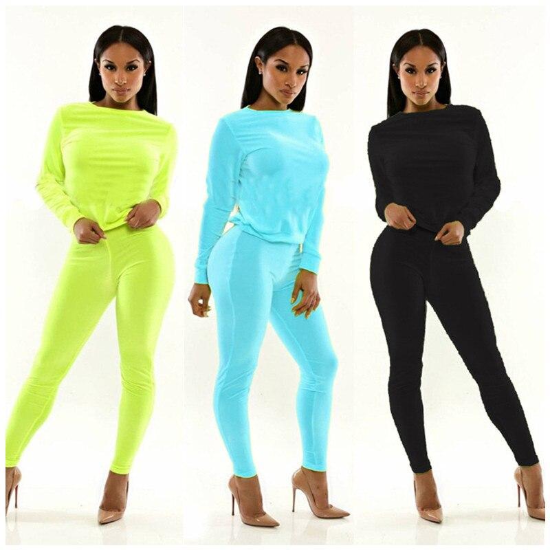 74a822a6d3 new arrivals fashion 2016 spring autumn 2 piece sets 4 colors crop ...