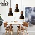 Винтажный промышленный подвесной светильник для гостиниц  черный цементный абажур  деревянный держатель для ламп  мини осветительный бар  ...