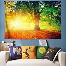 Sunlight Forest Large Wall Tapestry Natural Boho Hippie Tapestry Wall Hanging Bohemian Wall Tapestries Mandala Wall Art Decor forest stream sunlight waterproof wall hanging tapestry