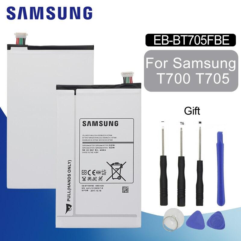 SAMSUNG Original tablette batterie EB-BT705FBE remplacement pour Samsung Galaxy Tab S 8.4 T700 T705 4900 mAh Batteries + Kit doutils gratuitSAMSUNG Original tablette batterie EB-BT705FBE remplacement pour Samsung Galaxy Tab S 8.4 T700 T705 4900 mAh Batteries + Kit doutils gratuit