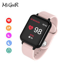 B57 Smart watches Women Waterproof Sports For IOS Android phone Smartwatch Heart Rate Monitor Blood Pressure Functions For Kid(China)