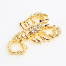 3D Metal car sticker Scorpion with diamond Car Accessories Waterproof Golden scorpion stickers