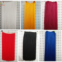 10meters/lot Polyester Fringe Trim African Tassel Ribbon Lace Accessory Sew Latin Dress Garment Curtain DIY Accessories 100CM