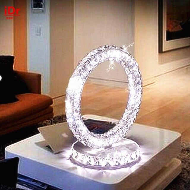 Lámpara LED de cristal moderna de Europa, decoración elegante, lámpara de mesa para sala de estar, estudio, dormitorio, cabecera, ambiente exclusivo