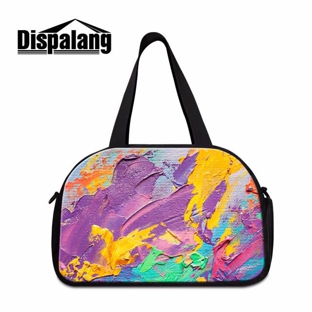 Dispalang Colorido duffle travel bag Art mochilas de viagem sacos de Ombro para as mulheres Sacos de Bagagem Bolsa de Viagem Da Moda para As Meninas
