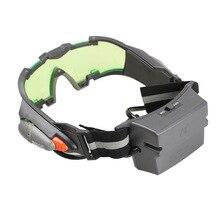 Недавно очки ночного видения зеленый тонированный объектив светодиодный свет для игры на открытом воздухе Prop подарок DOD886