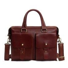 ROCKCOW 14 UNISEX Genuine Leather Briefcase Messenger Bag Laptop Bag 7001R