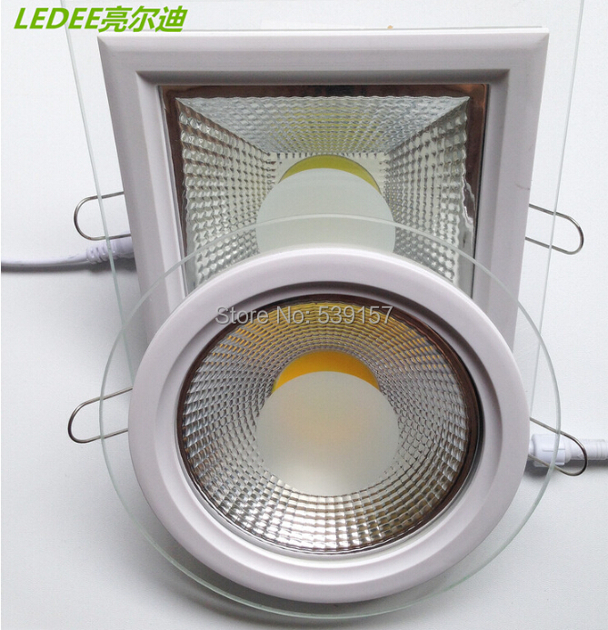Buy Free Shipping Glass Cover 5W 10W 15W LED COB Ceiling Dow