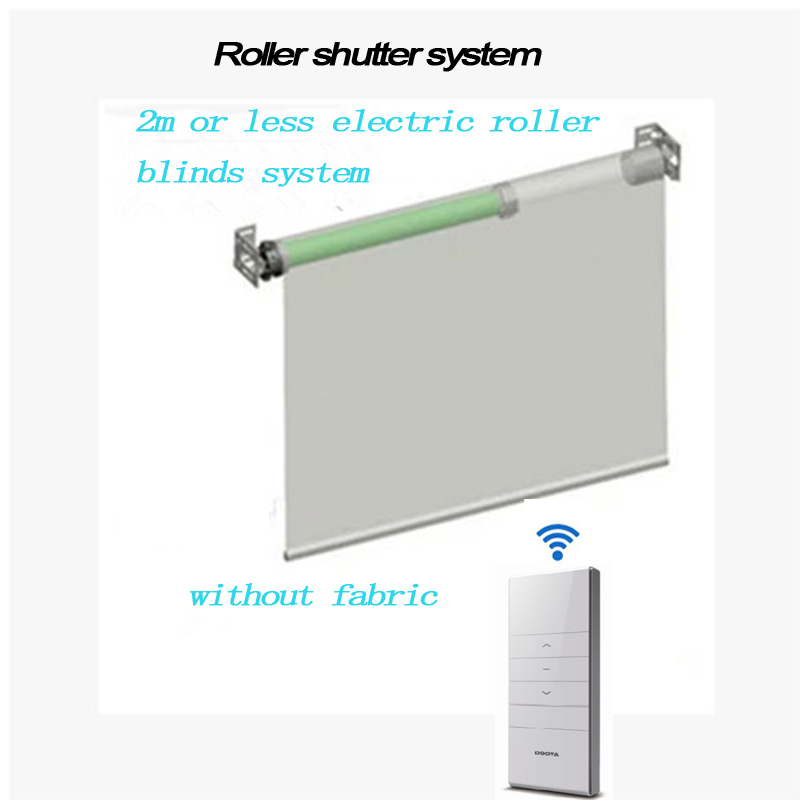 2M Width Elecric Customizable Roller Blinds System with Dooya Tubular Motor DM35S/35R without Fabric for Smart Home