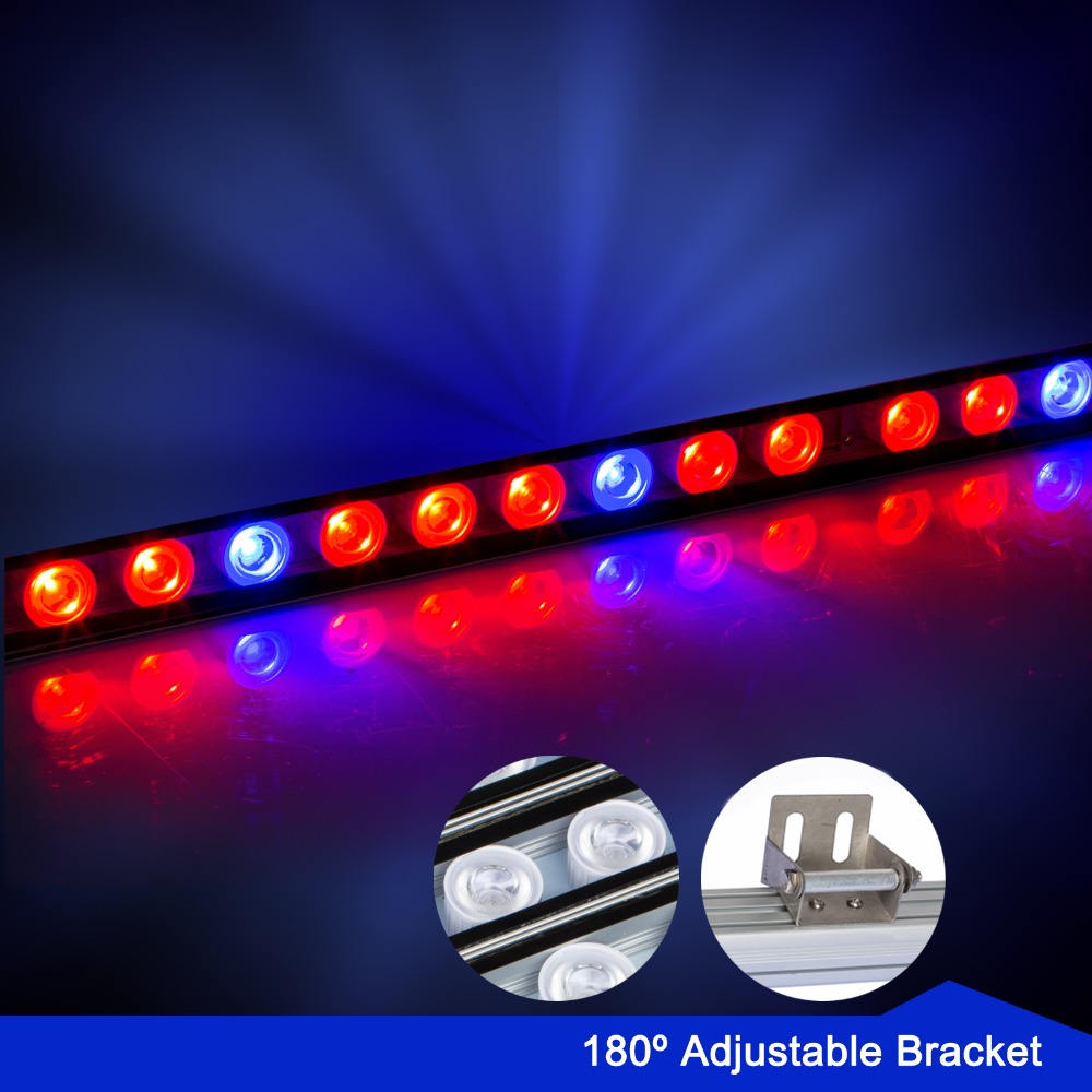 5pc/lot 108w Waterproof Led Grow Light Bar Red+Blue Lighting for hydroponic grow tent plant veg flower grow Lamp CN stock the red tent