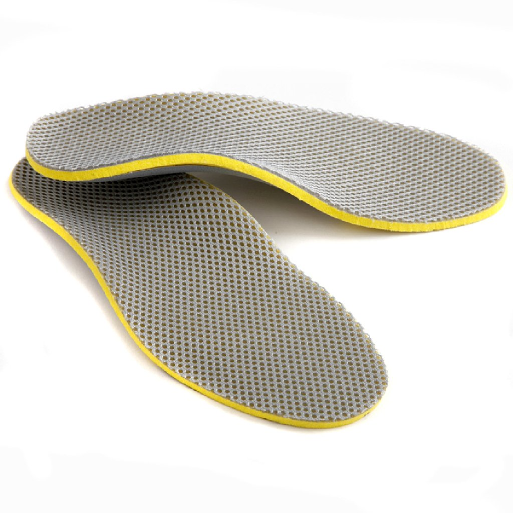 1 pair soles arch support silver mesh for men - EU 40-46