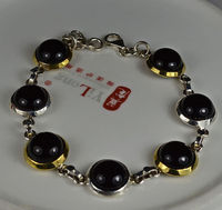 Hand Made Genuine Black Onyx Bracelet 100 925 Sterling Silver BR0055