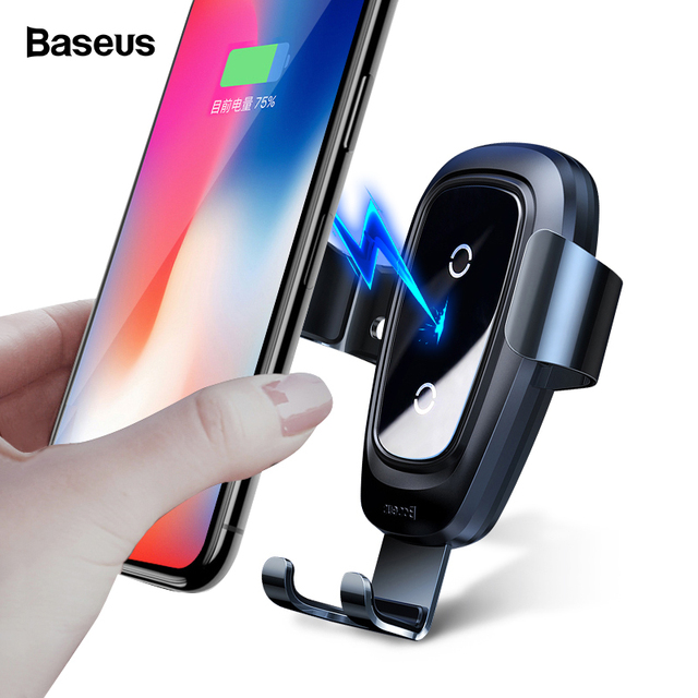 Baseus 10W Metal Car Mount Fast Qi Wireless Charger