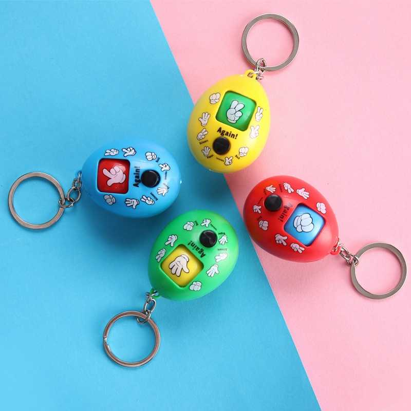 Guess Toy Rock Paper Scissors Funny Toys Drop Novelty Magic Toy Family Interactive Game Keychain Pendant Children's Toy - TOY151