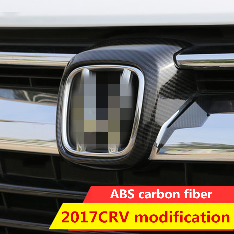 Red Car ABS Front Grille Grill Logo Frame Cover Trim for CRV 2017 2018 2019