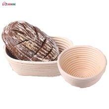Shenhong várias formas de fermentação rattan cesta país pão baguette massa banneton brotform provando cestas