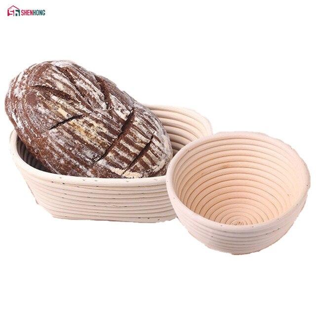 SHENHONG Varie Forme di Fermentazione Rattan Cestino Cestini Paese Pane Baguette