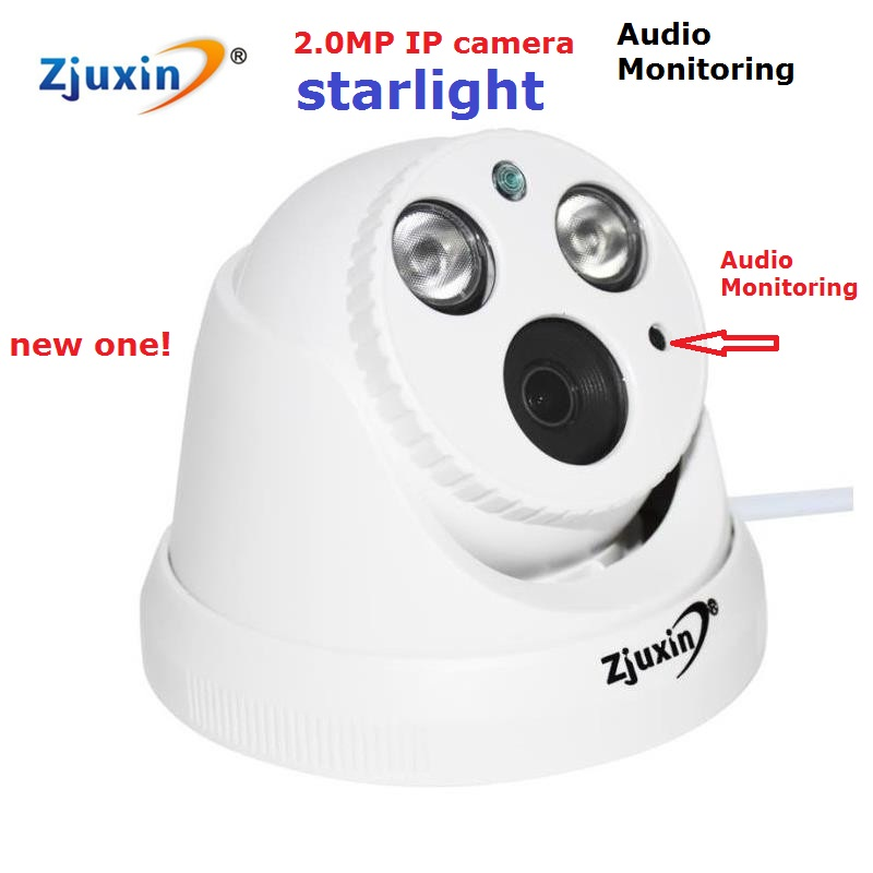 ФОТО 1PC 2mp starlight ip camerawith audio monitoring 1080p network camera with 3MP Lens onvif starlight camera for nice night vision