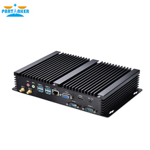 Partaker I3 Fanless Industrial Desktop Computer Case with Intel C1037U Core i3 4010U i5 4200U 2*COM 4*USB 3.0