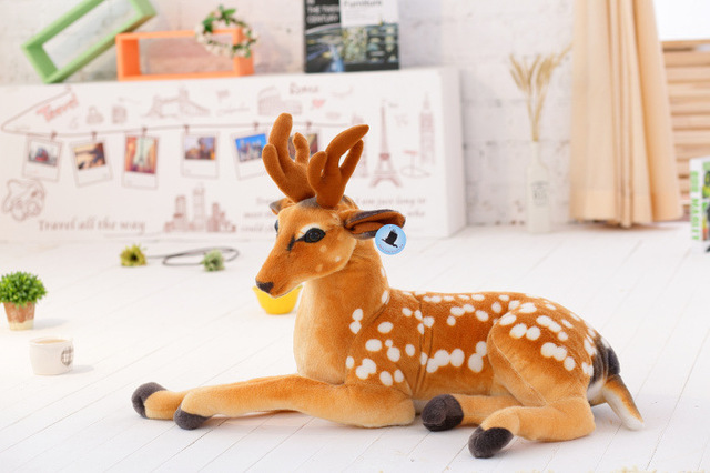 110cm Sika deer alive Reborn doll soft toy Stuffed Toys for girls plush toys stuffed animal pillow valentines day gift kids toys