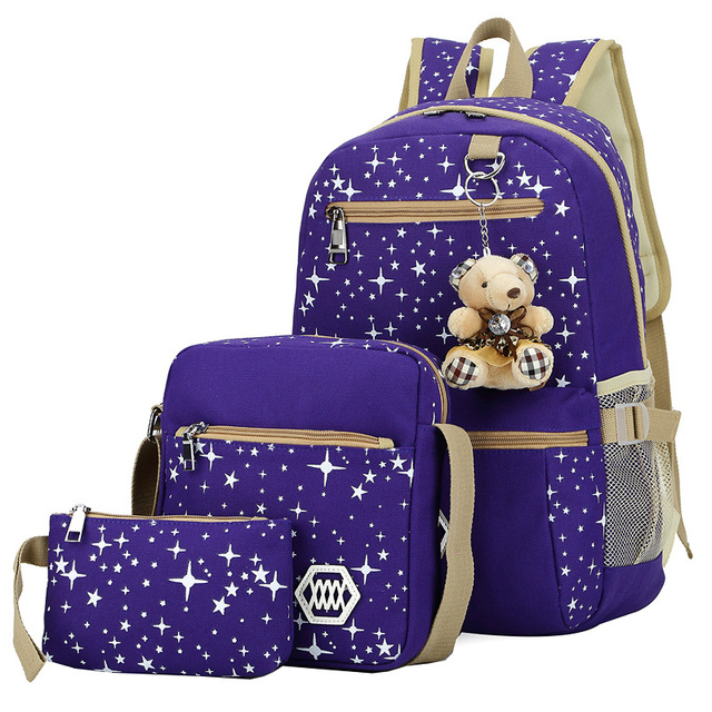 Kids SchoolBags Printing Backpack With Bear Children School Bags For Girl Cute Backpacks For Teenagers mochila infantil