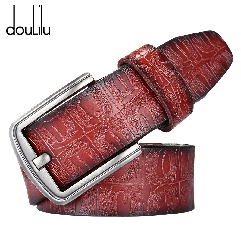 Belts For Men Crocodile Genuine Leather Luxury Brand Strap Female Pin Buckle Fancy Vintage High Quality Women's Jeans Boho Belt