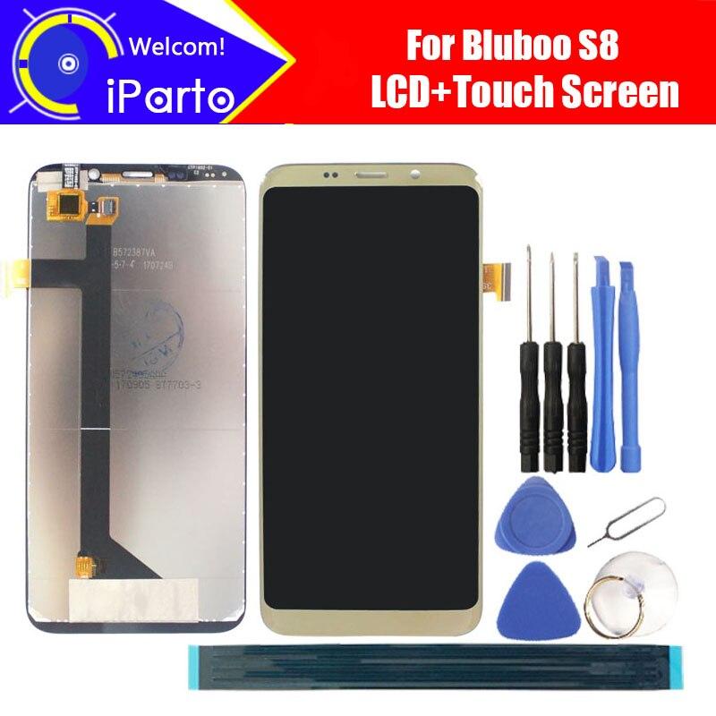 5.7 pollici BLUBOO S8 Display LCD + Touch Screen Digitizer 100% Originale Schermo LCD Assembly Pannello In Vetro Per S8 Telefono + strumenti