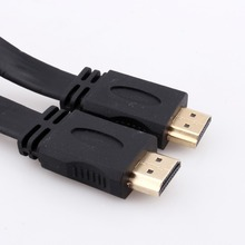 5FT 1.5 м V1.4 Плоским HDMI Кабеля М до М Для BLU-RAY 3D DVD PS3 HDTV XBOX 360 Высокая Скорость Передачи Сигнала, 24 К Позолоченные Соединения