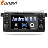 Eunavi 1 Din Octa 8 ядра Android 8,0 для BMW E46 M3 Rover 75 автомобильный dvd плеер gps Navi Wi Fi 4G Радио RDS Canbus Оперативная память 4G B Встроенная память 32 ГБ