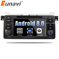 Eunavi 1 Din Octa 8 Core Android 8.0 For BMW E46 M3 Rover 75 Car DVD player GPS Navi Wifi 4G Radio RDS Canbus RAM 4GB ROM 32GB