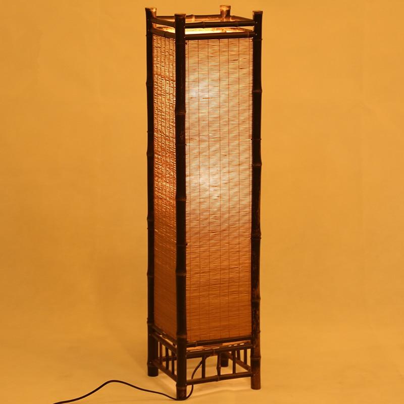 Vintage Håndværk Bambus Gulvlampe Japan Stil Bambus Lysarmaturer - Indendørs belysning - Foto 4