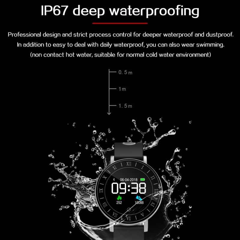 Edal 1.0 بوصة oled عرض للماء الذكية ووتش القلب الديناميكي النوم رصد معدل الساعات ل ios الروبوت فون 8 × سامسونج