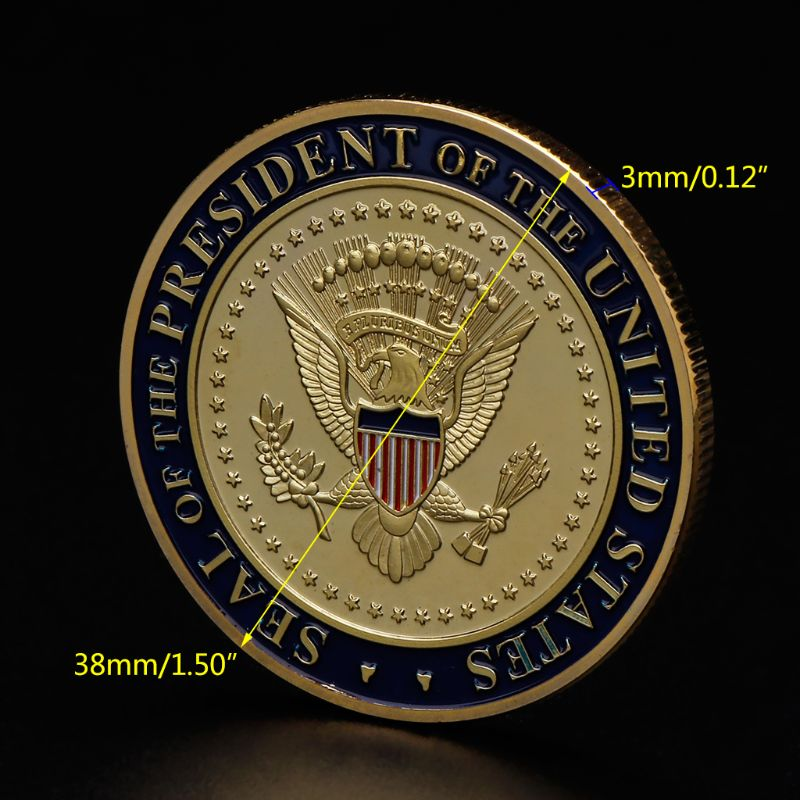 Commemorative Coin America President Trump 2020 Collection Speech Crafts Art Storage Souvenir Alloy Round Gifts