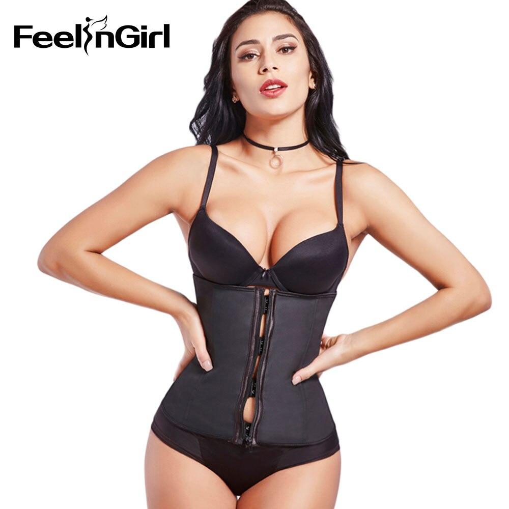 FeelinGirl Haak Rits Rubber Latex Taille Trainer Sexy Korsetten en - Ondergoed - Foto 4