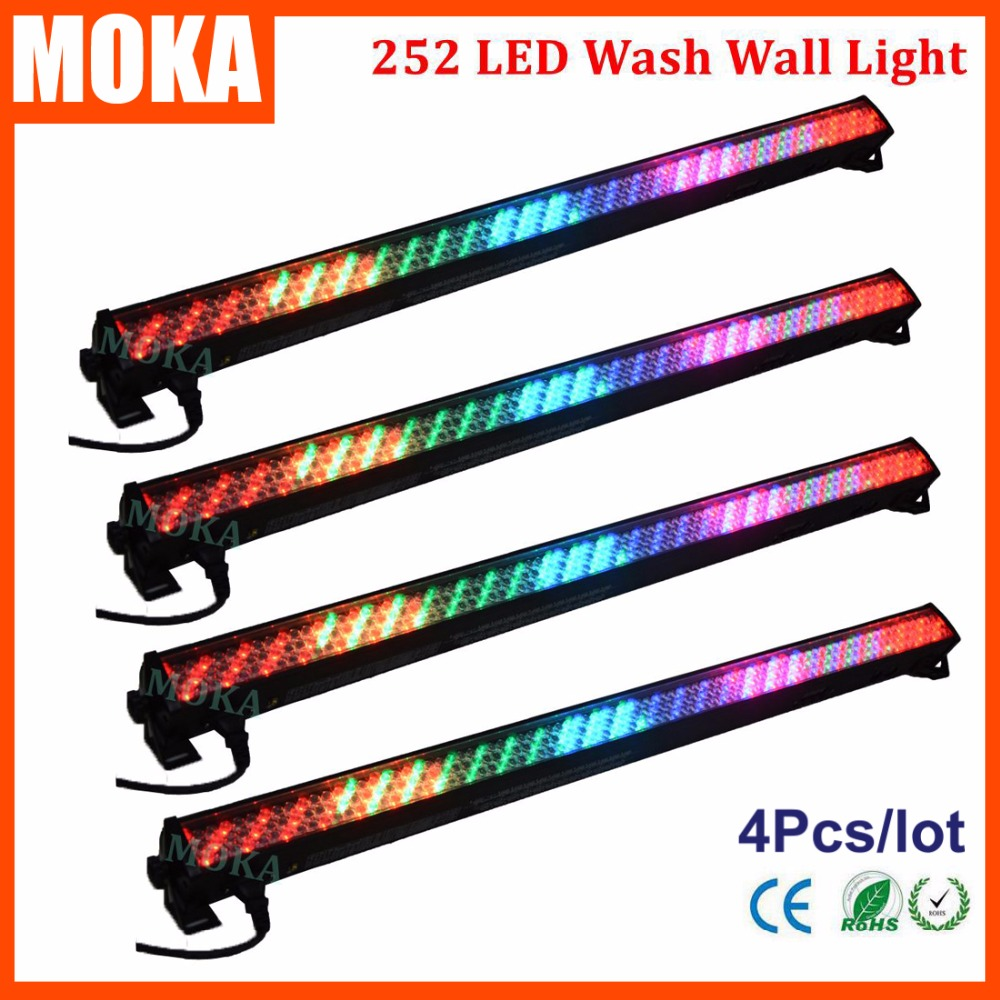4PCS/LOT 3-Pin XLR Washer Wall Lighting Lights 252 PCS Led Christmas New Year Wall Wash Light Indoor Outdoor Lamp 4pcs dhlfedex dmx512 24w led wallwasher wall lamp washer lighting lamp outdoor light