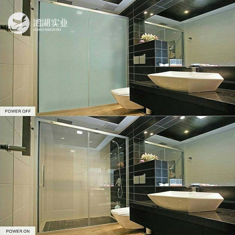 87.5x105.5 cm blanc électrique auto-adhésif PDLC Film intelligent verre fenêtre porte teinte Film intelligent