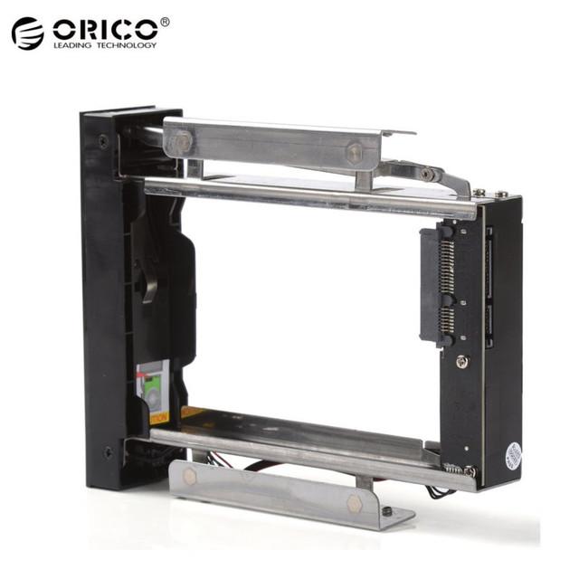 """Nueva orico 3.5 """"mobile rack hdd interno interno 5.25 bahía inoxidable adaptador soporte de montaje de disco duro interno"""